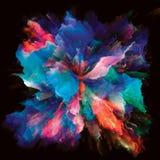 Внутренняя жизнь красочного взрыва выплеска краски стоковые изображения rf