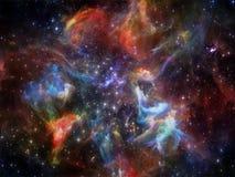 Внутренняя жизнь межзвёздного облака Стоковые Фотографии RF