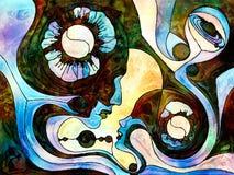 Внутренняя жизнь разделения цвета Стоковые Фотографии RF