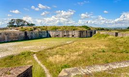 Внутренняя зона форта Pickens, Fl стоковое фото