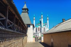 Внутренняя Казань Кремль, Россия стоковые фото