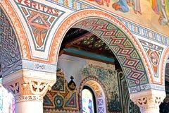 Внутренняя картина на стенах церков первого мученика St Stephen в монастыре Beit Jamal Стоковая Фотография