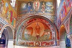 Внутренняя картина на стене церков первого мученика St Stephen в монастыре Beit Jamal Стоковые Изображения