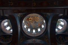 Внутренняя картина нового монастыря AfonAthos стоковое изображение
