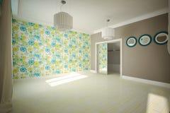 Внутренняя комната пустая в современном стиле Стоковое Изображение