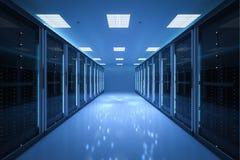 Внутренняя комната сервера Стоковое Изображение RF