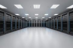 Внутренняя комната сервера Стоковое Фото