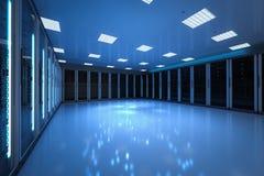 Внутренняя комната сервера стоковые изображения rf