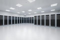 Внутренняя комната сервера стоковая фотография rf