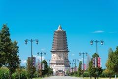 ВНУТРЕННЯЯ МОНГОЛИЯ, КИТАЙ - 8-ое августа 2015: Пагода Daming (Damingta) на Стоковое Изображение RF