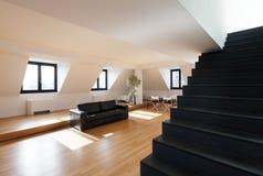 Внутренняя, новая просторная квартира Стоковая Фотография