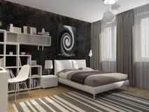Внутренняя подростковая комната Стоковое фото RF