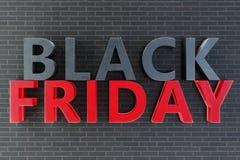 Внутренняя продажа черноты пятницы года только один раз в год, последние дни от ноября Рабаты, продажи иллюстрация 3d иллюстрация вектора