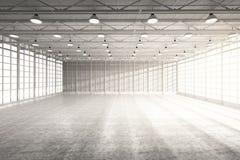 Внутренняя пустая фабрика иллюстрация штока