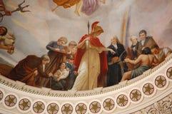 Внутренняя ротонда капитолия в Вашингтоне, DC Стоковое Изображение