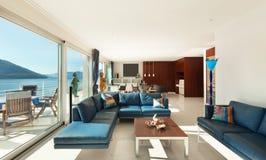 Внутренняя, современная квартира Стоковое Изображение