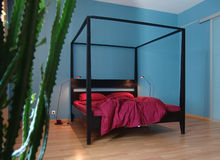 Внутренняя спальня Стоковые Фото