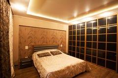 Внутренняя спальня Стоковое Изображение