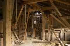 Внутренняя старая мельница Стоковая Фотография RF