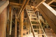 Внутренняя старая мельница Стоковое Изображение