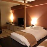 Внутренняя съемка гостиницы Setsugetsuka Setsugetsuka обнаружено местонахождение только 1 минимальной прогулке от станции Gora гд стоковая фотография