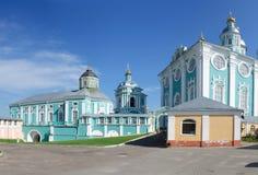 Внутренняя территория святого собора Dormition в Смоленске стоковые фотографии rf