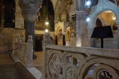 Внутренняя церковь города святого Sepulchre старого стоковые изображения rf