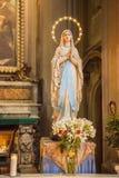 Внутренняя церковь al Corso San Marcello в Риме Стоковые Фото