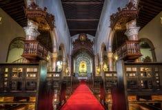 Внутренняя церковь San Sebastian Стоковые Изображения RF