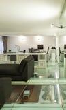Внутренняя, широкая просторная квартира, студия Стоковая Фотография RF