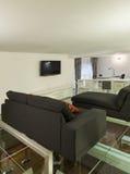 Внутренняя, широкая просторная квартира, студия Стоковая Фотография