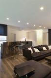 Внутренняя, широкая просторная квартира Стоковое Фото