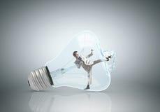 Внутренняя электрическая лампочка стоковые фотографии rf