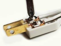 Внутренняя электрическая штепсельная вилка Стоковые Изображения