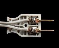 Внутренняя электрическая штепсельная вилка Стоковое Изображение