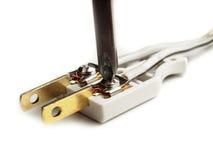 Внутренняя электрическая штепсельная вилка Стоковые Изображения RF