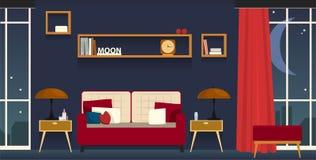 Внутренн-живя комната Стоковое Изображение RF