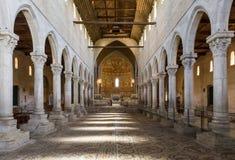 Внутри базилики Aquileia стоковая фотография rf