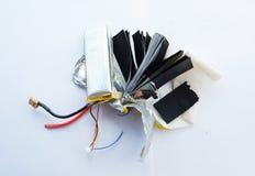Внутри батареи lipo полимера лития Стоковая Фотография RF