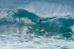 Внутри большой ломая волны Стоковое Изображение RF