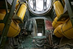 Внутри взгляда самолет Вторая мировой войны Стоковые Фотографии RF