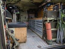 Внутри военного транспортного средства Стоковое фото RF