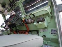 Внутри военного транспортного средства Стоковое Фото