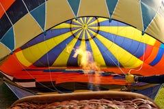 Внутри воздуха воздушного шара горячего Стоковое фото RF