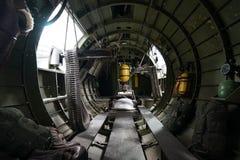 Внутри воздушного судна бомбардировщика Вторая мировой войны Стоковое Изображение RF