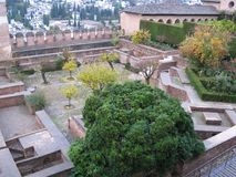 Внутри дворца Альгамбра Стоковые Изображения RF