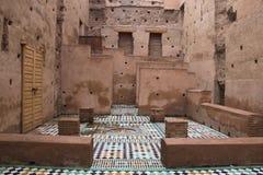 Внутри дворца Bab Agnaou в Marrakesh, Марокко стоковые фотографии rf