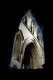 Внутри готического собора стоковая фотография rf