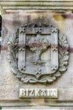 Внутри дома собрания Gernika, исторический город в провинции Бискайи Испании Дуб символ баскского freedo Стоковое Изображение RF
