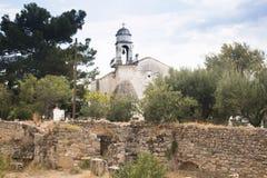 Внутри замка Koroni, Греция Стоковая Фотография